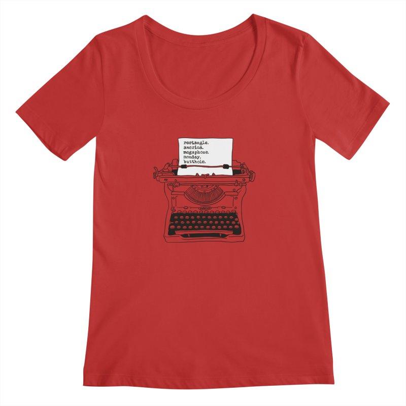 Typewriter Women's Scoop Neck by Urban Prey's Artist Shop