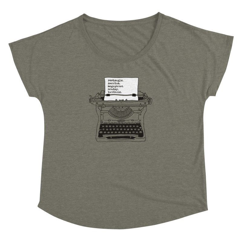 Typewriter Women's Dolman by Urban Prey's Artist Shop