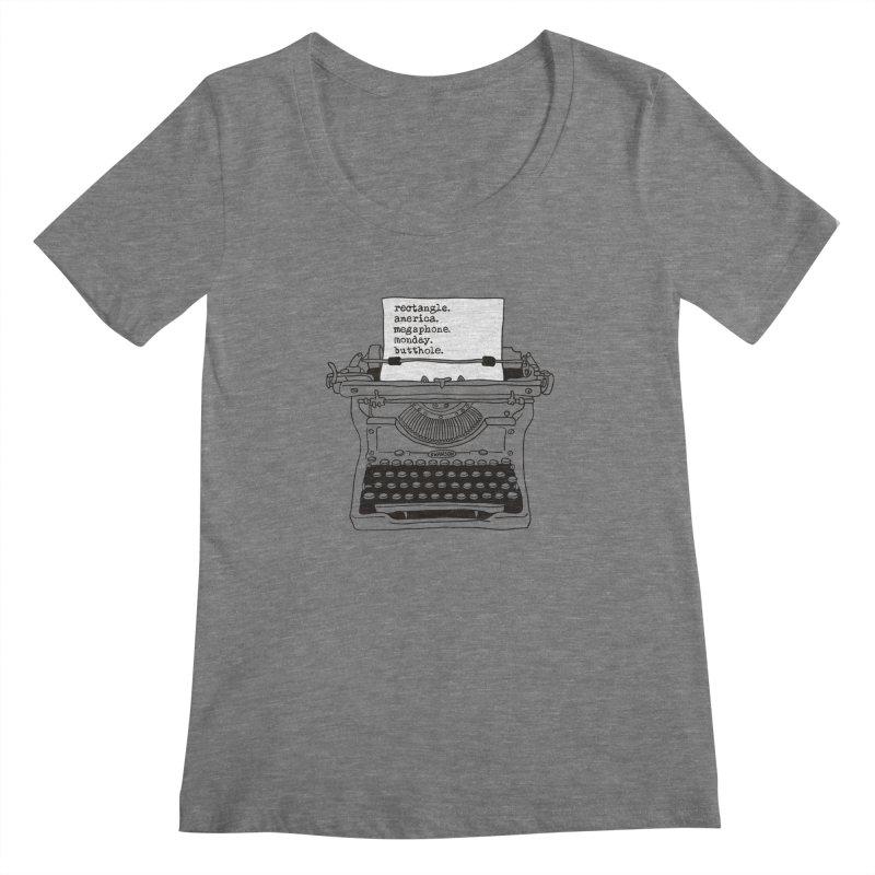Typewriter Women's Scoopneck by Urban Prey's Artist Shop