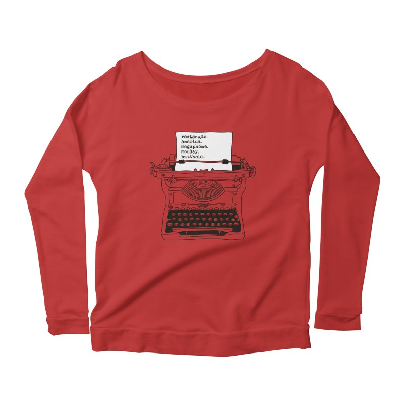 Typewriter Women's Scoop Neck Longsleeve T-Shirt by Urban Prey's Artist Shop
