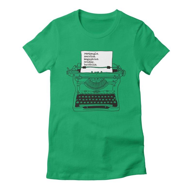 Typewriter Women's T-Shirt by Urban Prey's Artist Shop