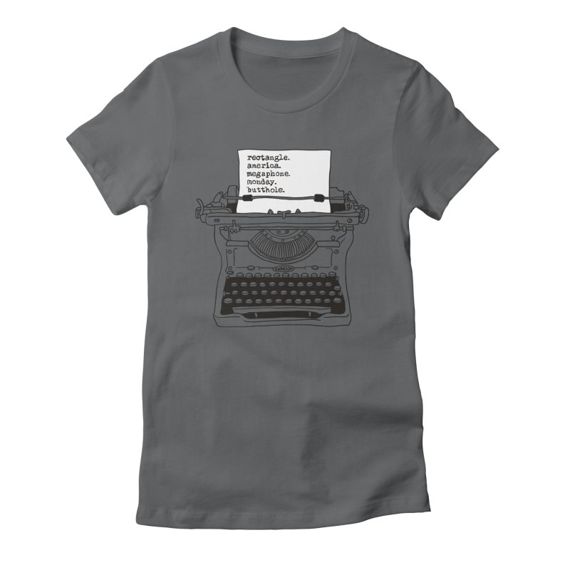 Typewriter Women's T-Shirt by Urban Prey's Artist Shop