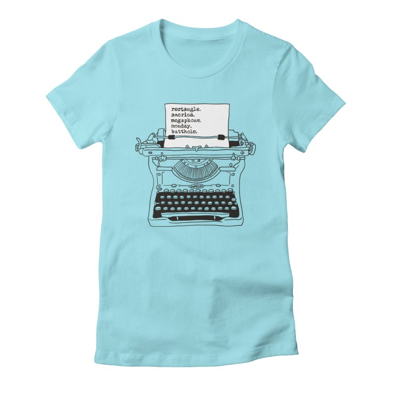 Typewriter Women's Fitted T-Shirt by Urban Prey's Artist Shop