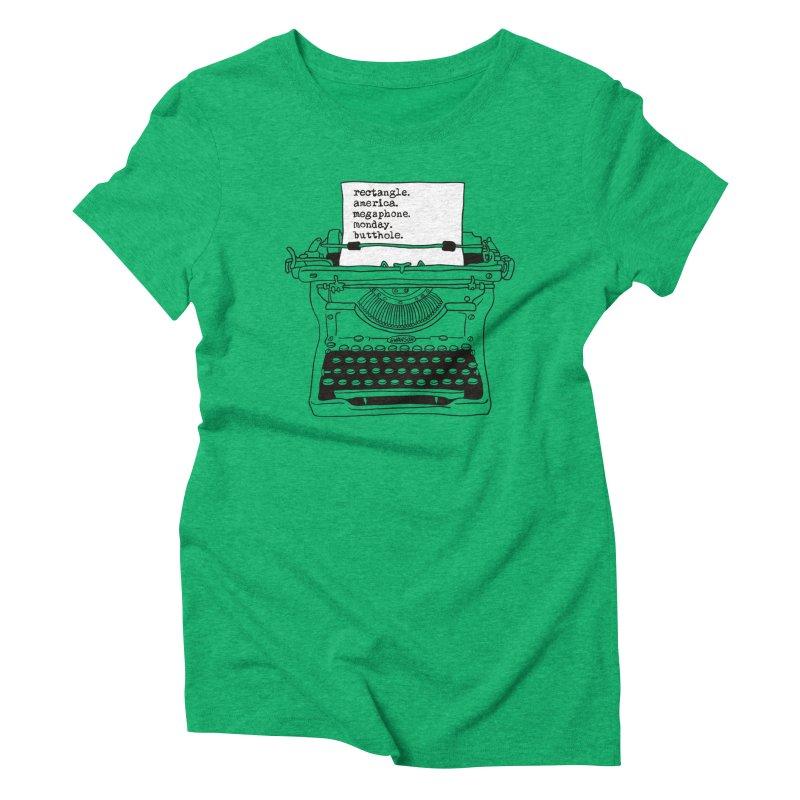 Typewriter Women's Triblend T-Shirt by Urban Prey's Artist Shop