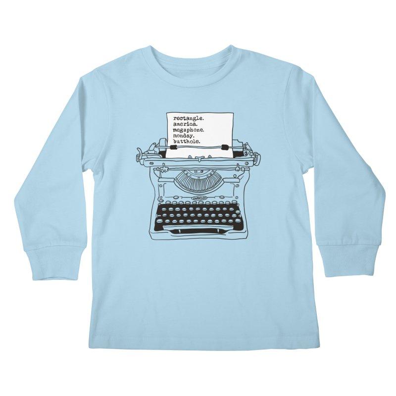 Typewriter Kids Longsleeve T-Shirt by Urban Prey's Artist Shop