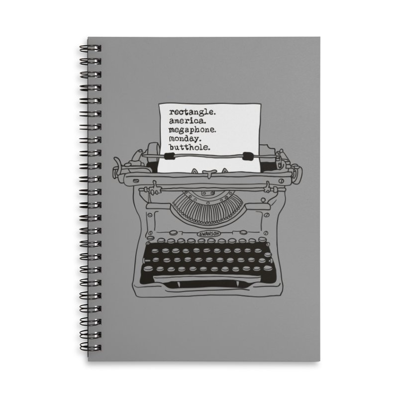 Typewriter Accessories Notebook by Urban Prey's Artist Shop