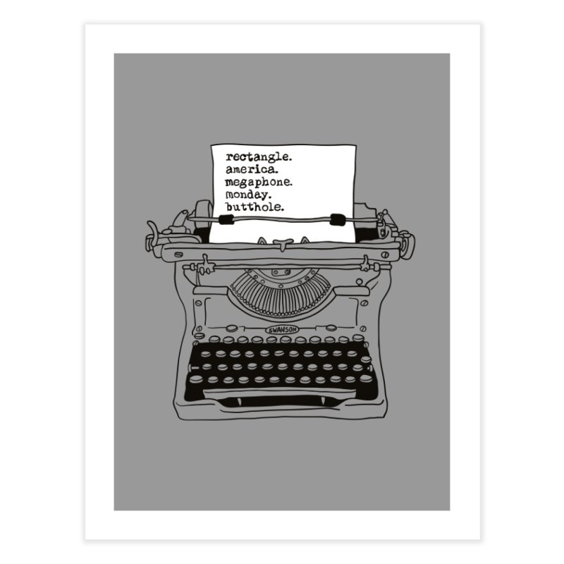 Typewriter Home Fine Art Print by Urban Prey's Artist Shop