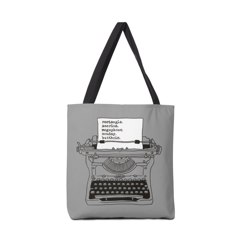 Typewriter Accessories Tote Bag Bag by Urban Prey's Artist Shop