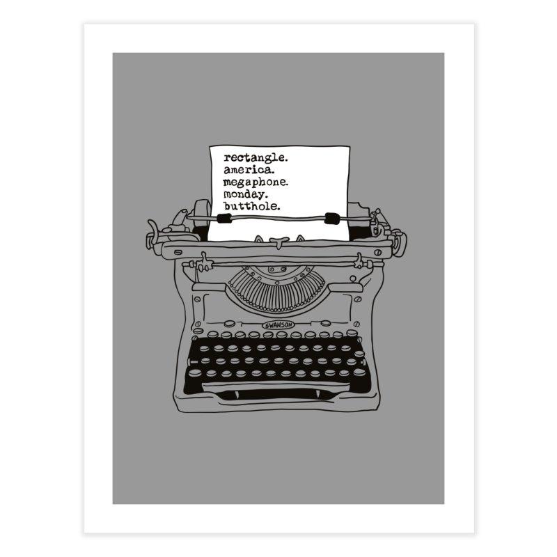 Typewriter Home Fine Art Print by Urban Prey's Artist Shop