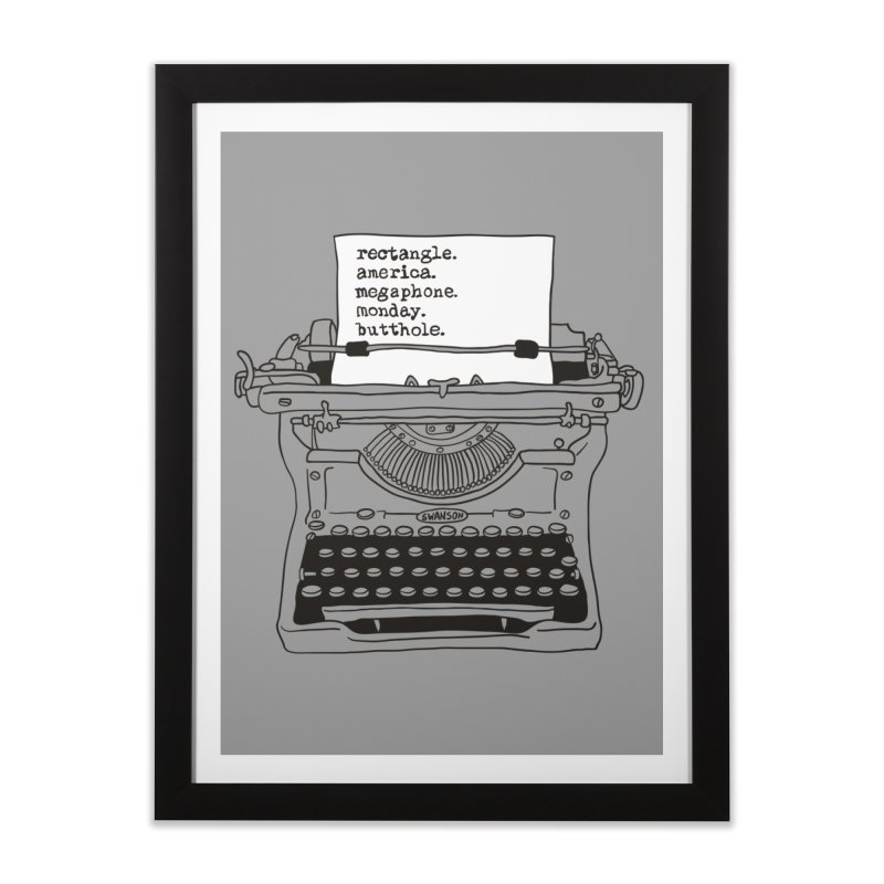 Typewriter Home Framed Fine Art Print by Urban Prey's Artist Shop