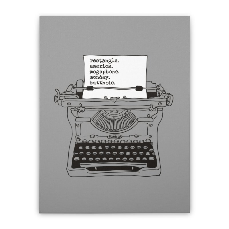 Typewriter Home Stretched Canvas by Urban Prey's Artist Shop