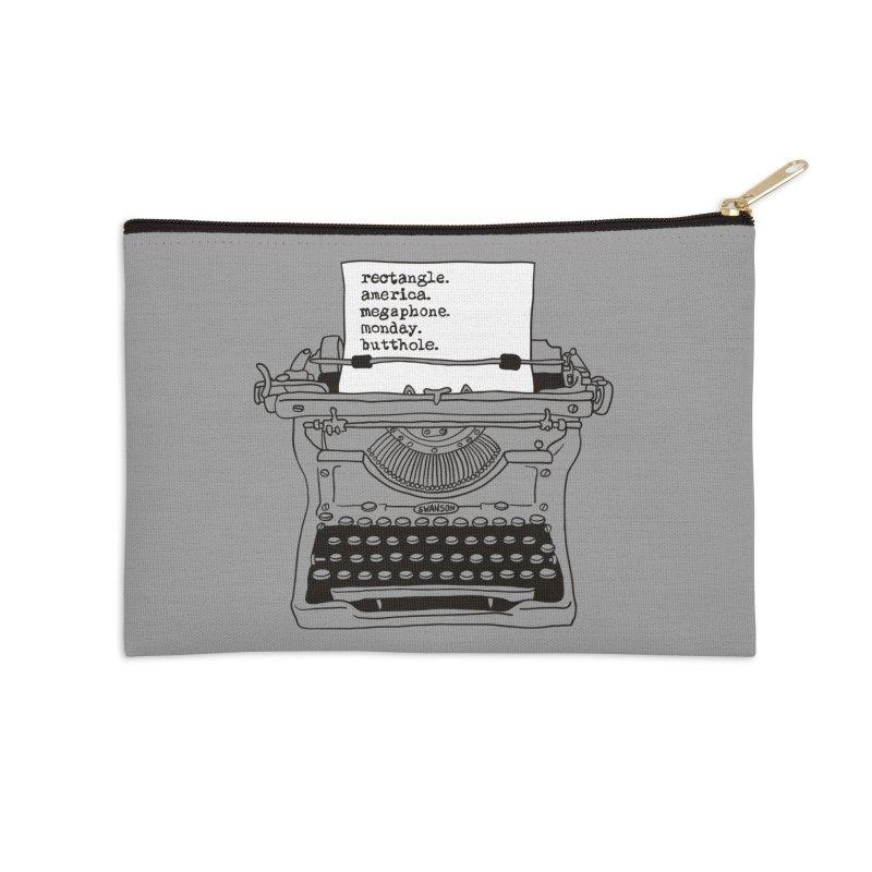 Typewriter Accessories Zip Pouch by Urban Prey's Artist Shop