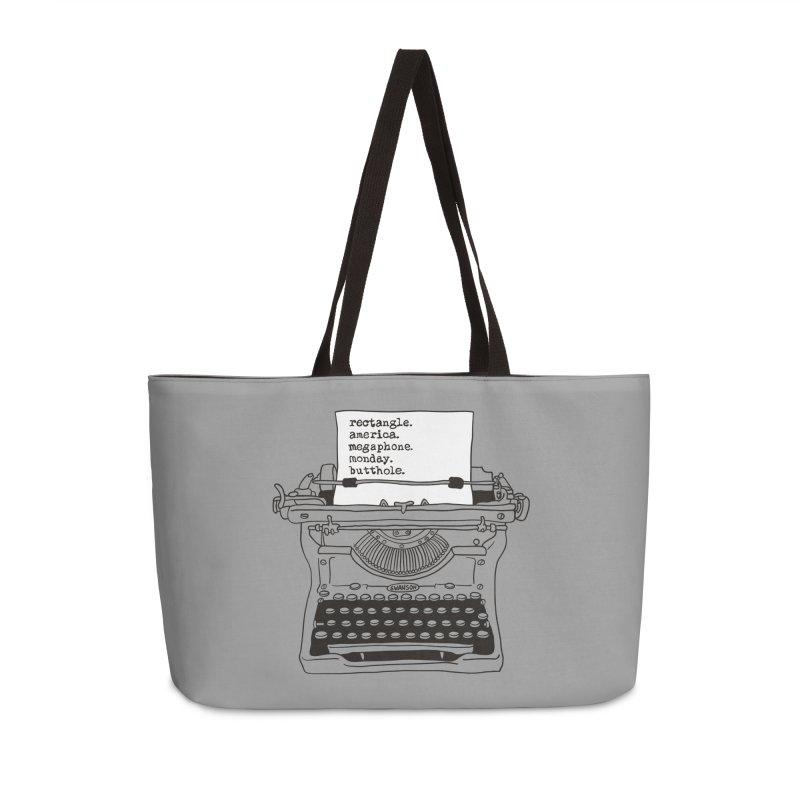 Typewriter Accessories Weekender Bag Bag by Urban Prey's Artist Shop