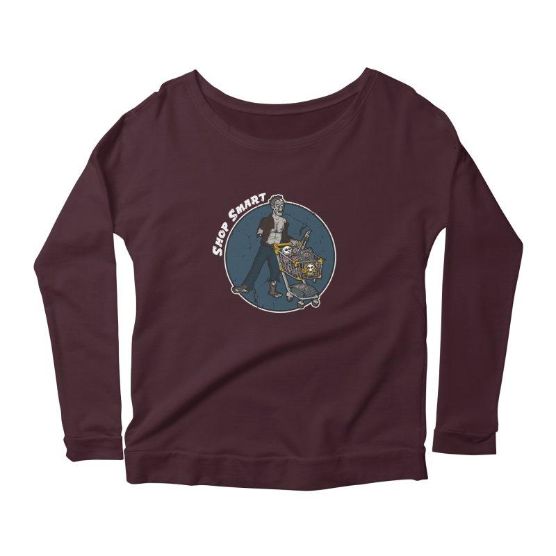 Shop Smart Women's Scoop Neck Longsleeve T-Shirt by Urban Prey's Artist Shop