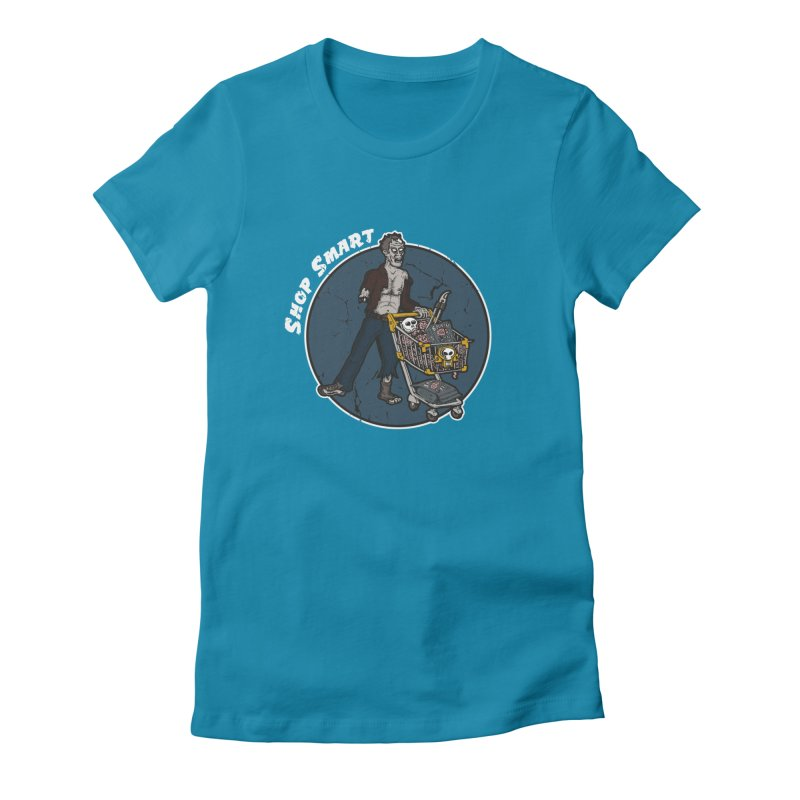Shop Smart Women's Fitted T-Shirt by Urban Prey's Artist Shop