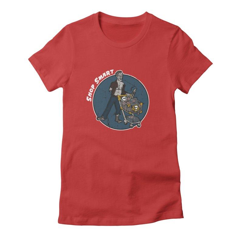 Shop Smart Women's Fitted T-Shirt by Urban Prey's Artist Shop