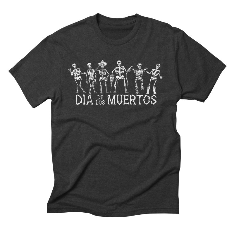 Dia de los Muertos Men's Triblend T-Shirt by Urban Prey's Artist Shop
