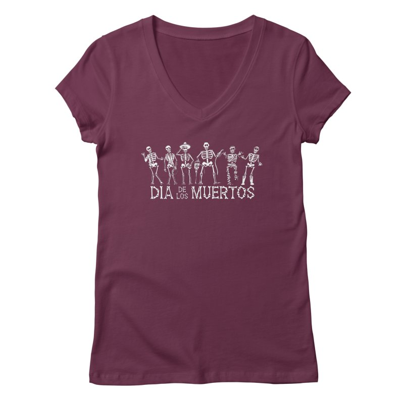 Dia de los Muertos Women's Regular V-Neck by Urban Prey's Artist Shop