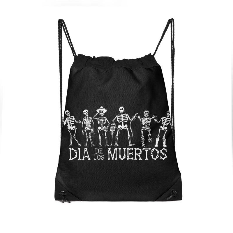 Dia de los Muertos Accessories Drawstring Bag Bag by Urban Prey's Artist Shop