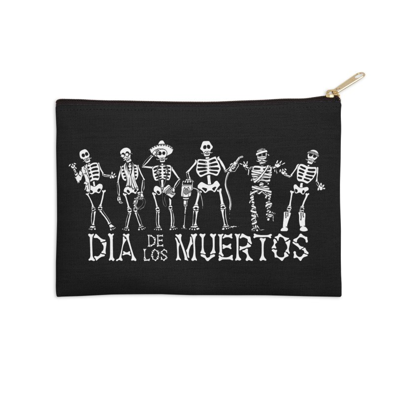 Dia de los Muertos Accessories Zip Pouch by Urban Prey's Artist Shop