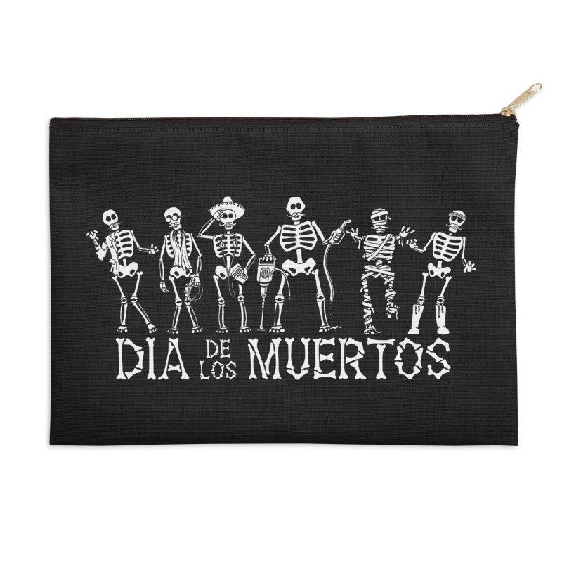 Dia de los Muertos Accessories Zip Pouch by Urban Prey's Artist Shop