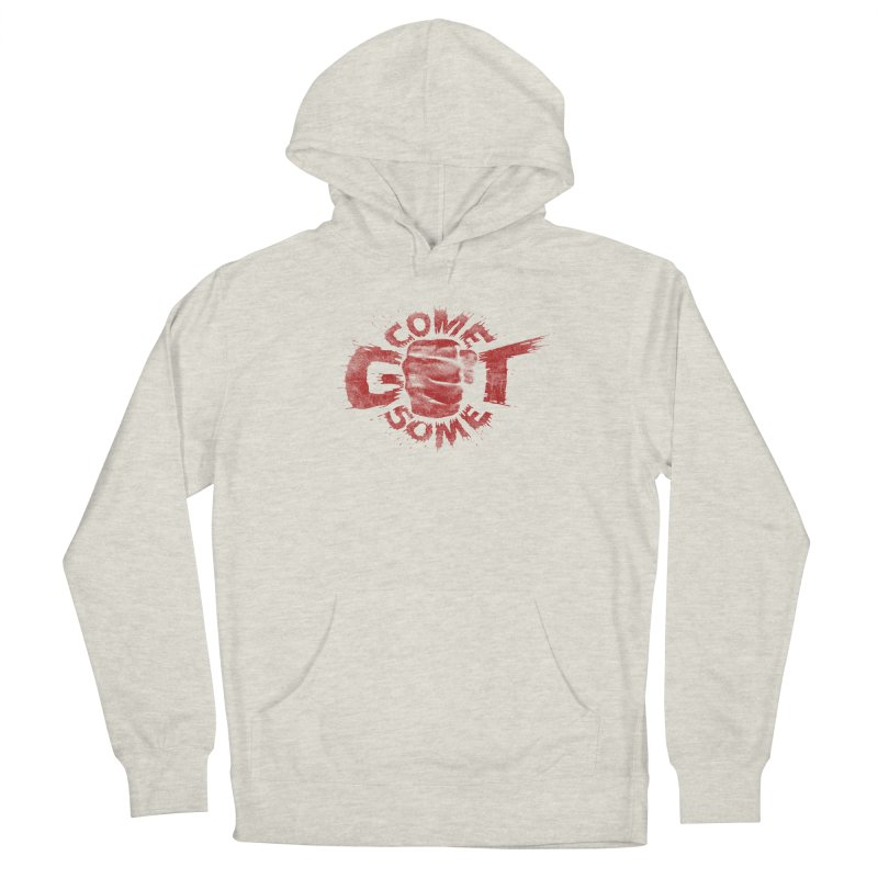 Come get some - red Men's Pullover Hoody by Urban Prey's Artist Shop