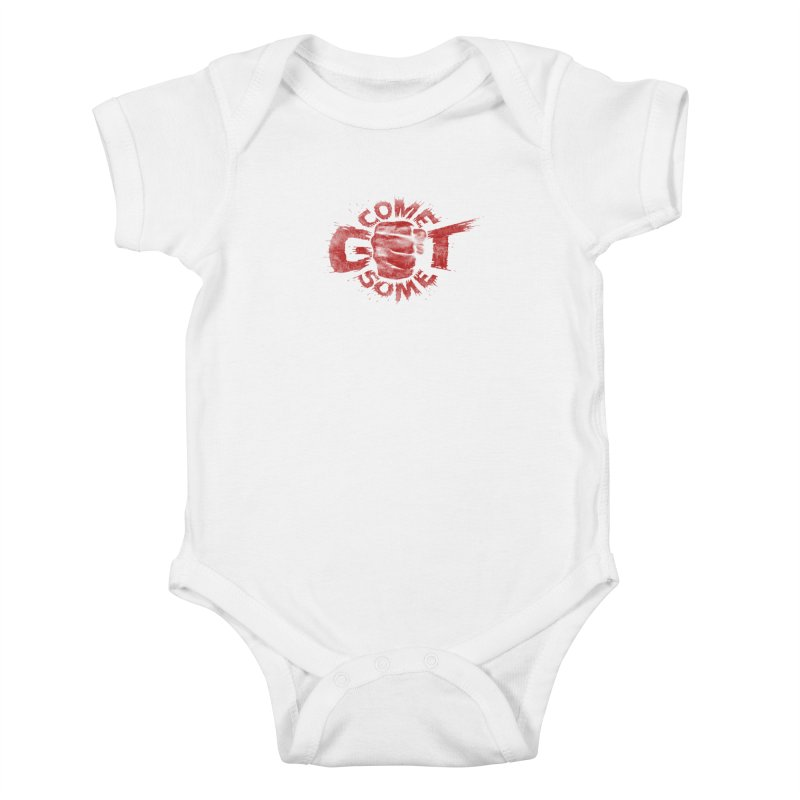 Come get some - red Kids Baby Bodysuit by Urban Prey's Artist Shop