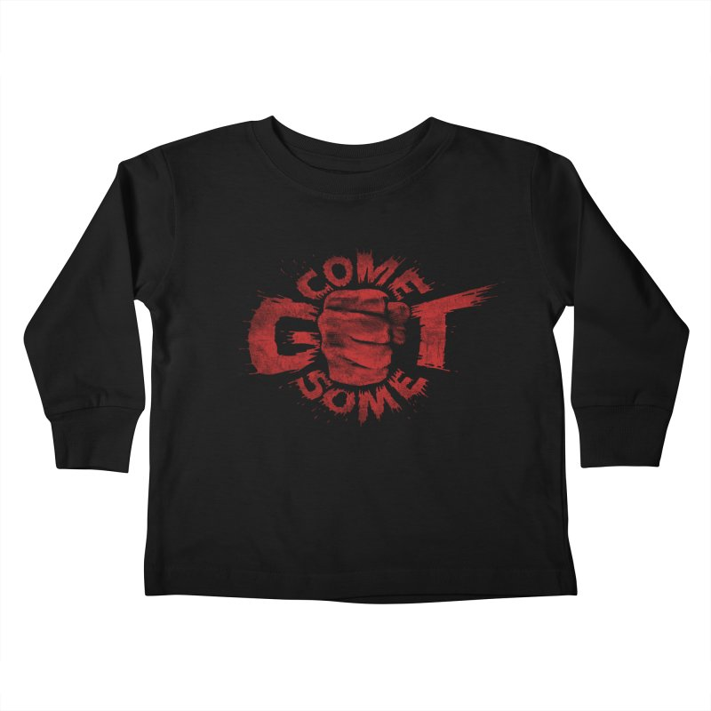 Come get some - red Kids Toddler Longsleeve T-Shirt by Urban Prey's Artist Shop