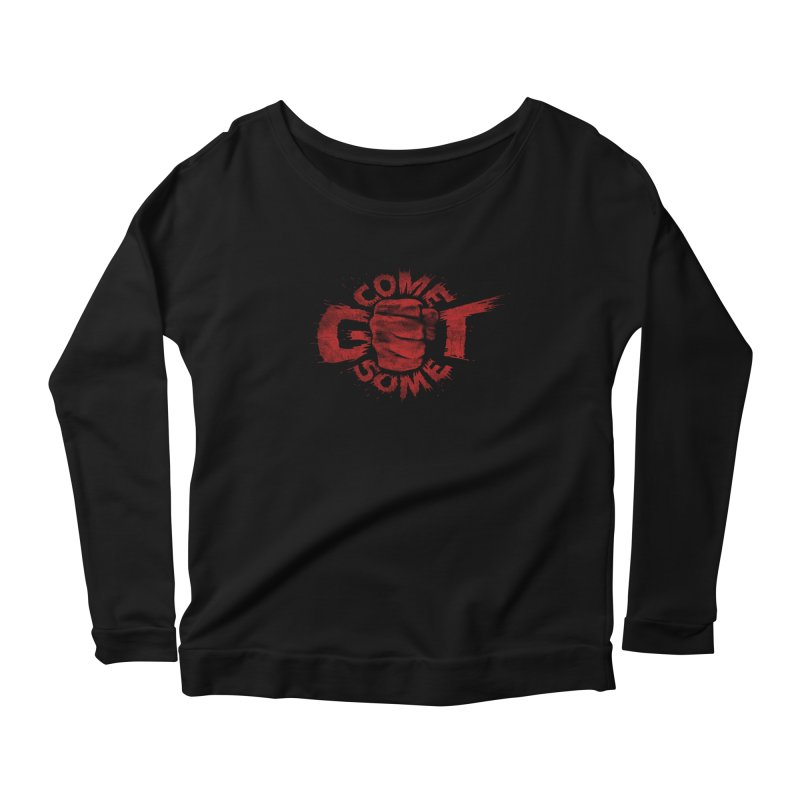 Come get some - red Women's Scoop Neck Longsleeve T-Shirt by Urban Prey's Artist Shop