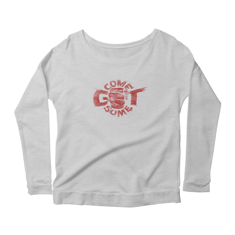 Come get some - red Women's Longsleeve Scoopneck  by Urban Prey's Artist Shop