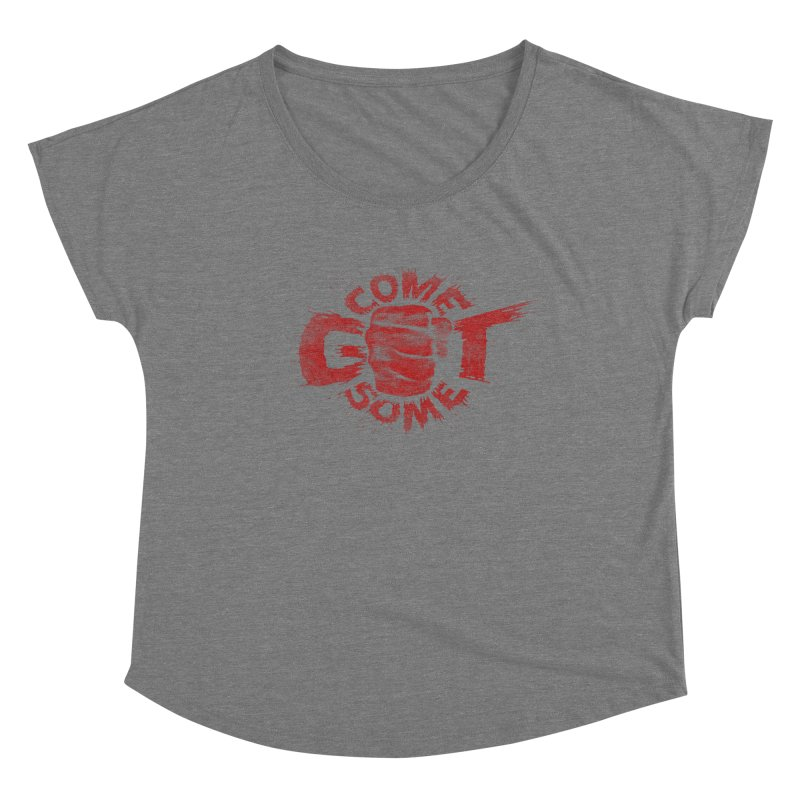 Come get some - red Women's Scoop Neck by Urban Prey's Artist Shop