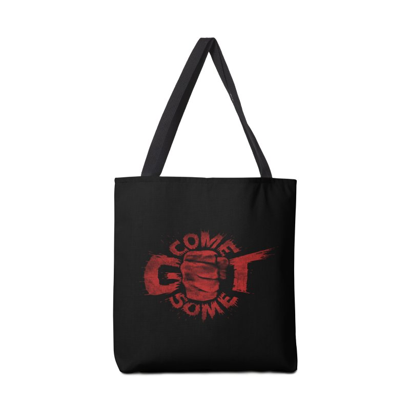 Come get some - red Accessories Tote Bag Bag by Urban Prey's Artist Shop