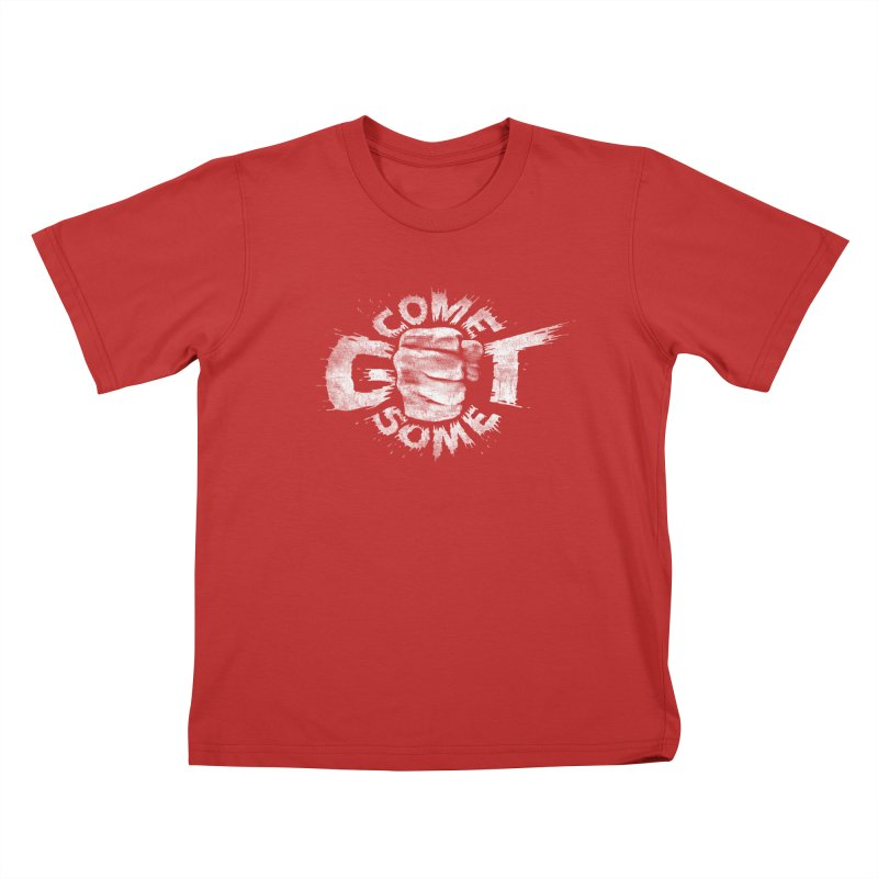 Come get some - white Kids T-Shirt by Urban Prey's Artist Shop