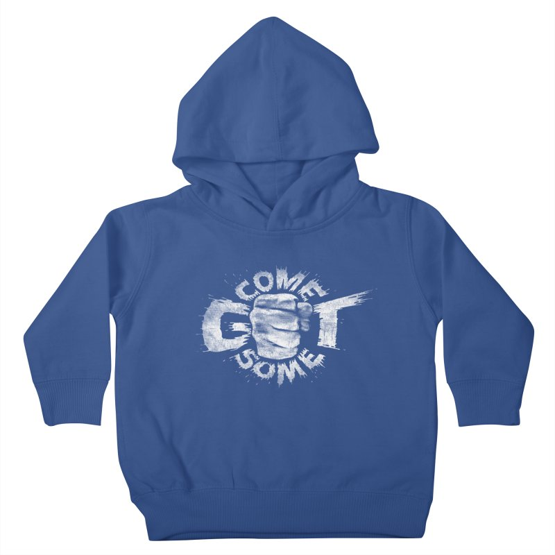 Come get some - white Kids Toddler Pullover Hoody by Urban Prey's Artist Shop