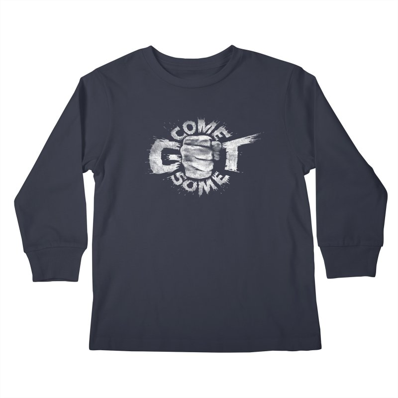 Come get some - white Kids Longsleeve T-Shirt by Urban Prey's Artist Shop
