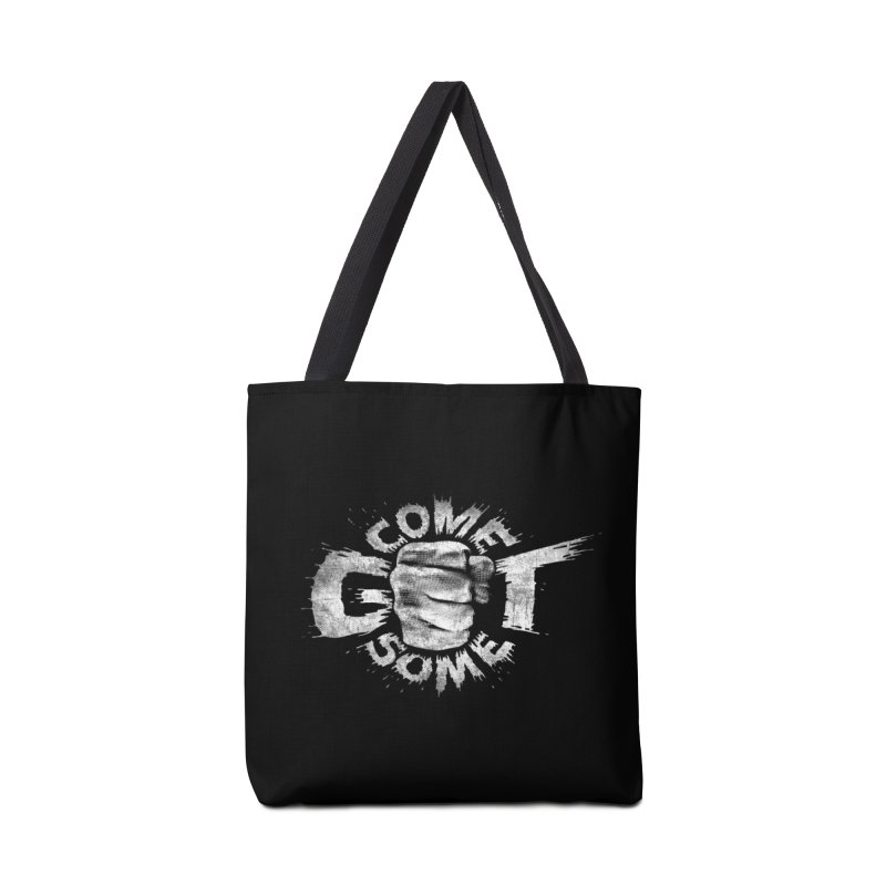 Come get some - white Accessories Tote Bag Bag by Urban Prey's Artist Shop