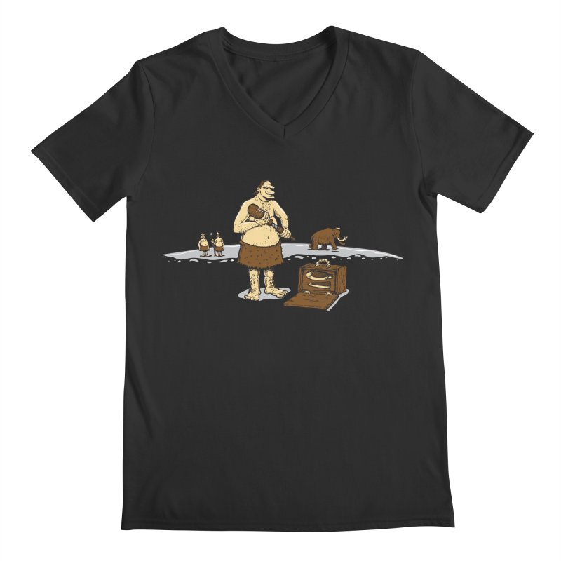Hitman of the Stoneage Men's Regular V-Neck by Urban Prey's Artist Shop