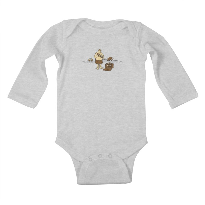 Hitman of the Stoneage Kids Baby Longsleeve Bodysuit by Urban Prey's Artist Shop