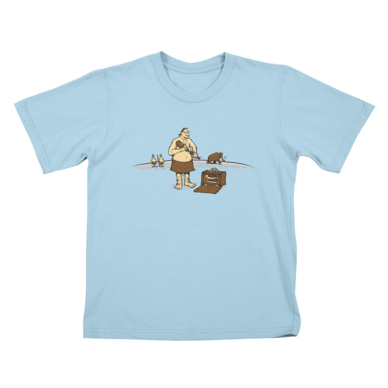 Hitman of the Stoneage Kids T-shirt by Urban Prey's Artist Shop