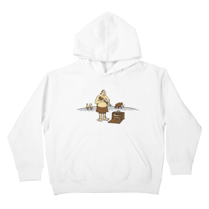 Hitman of the Stoneage Kids Pullover Hoody by Urban Prey's Artist Shop