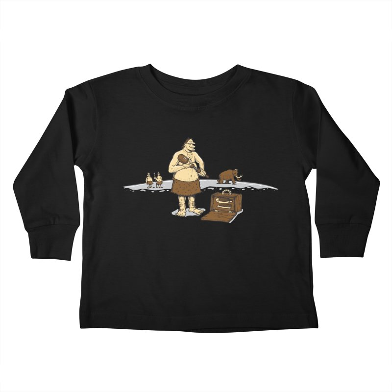 Hitman of the Stoneage Kids Toddler Longsleeve T-Shirt by Urban Prey's Artist Shop