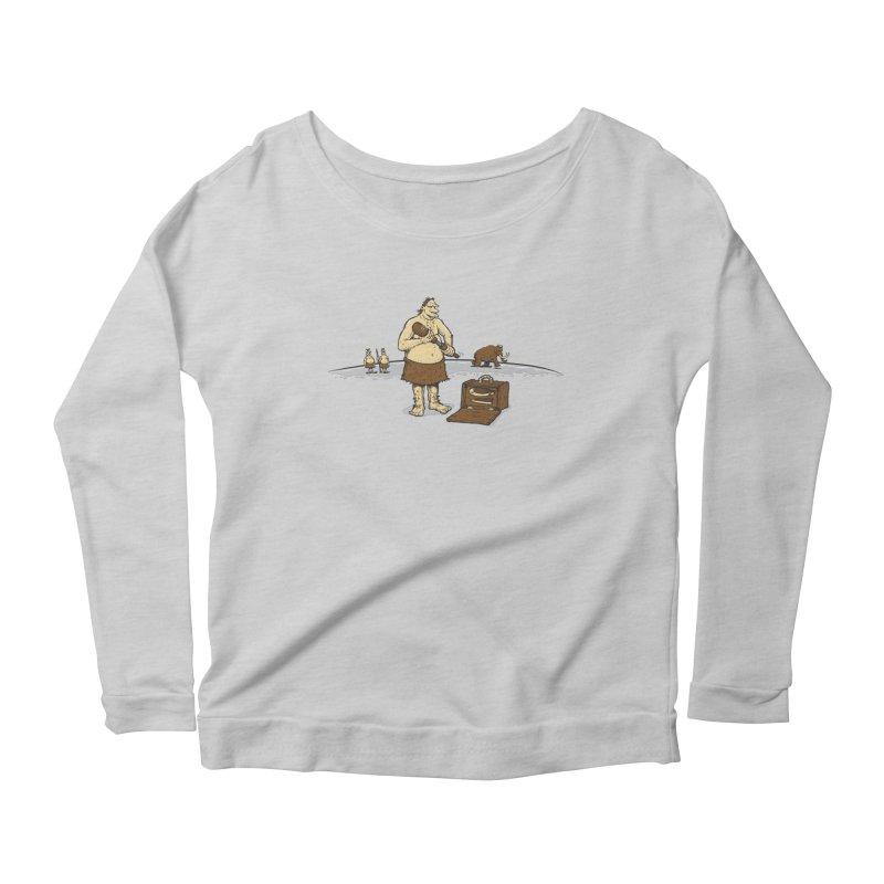 Hitman of the Stoneage Women's Scoop Neck Longsleeve T-Shirt by Urban Prey's Artist Shop