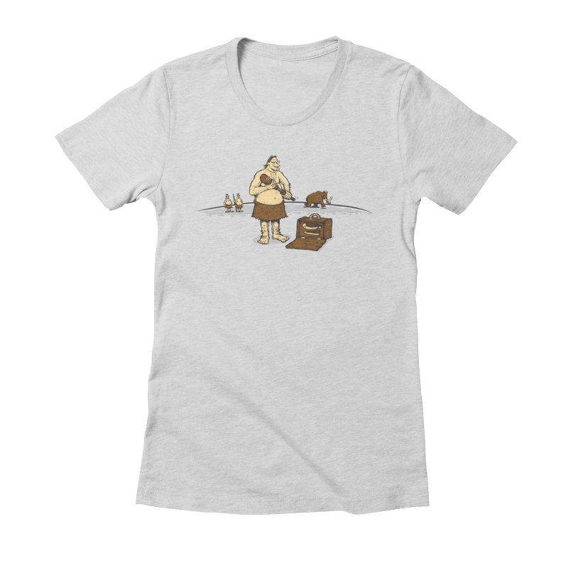 Hitman of the Stoneage Women's Fitted T-Shirt by Urban Prey's Artist Shop