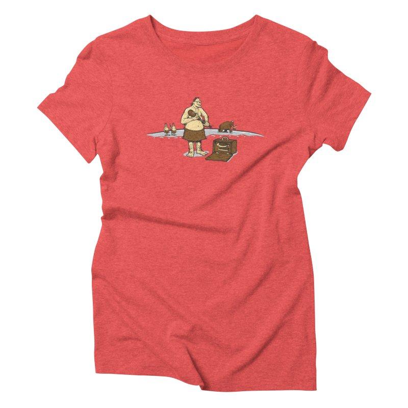 Hitman of the Stoneage Women's Triblend T-Shirt by Urban Prey's Artist Shop