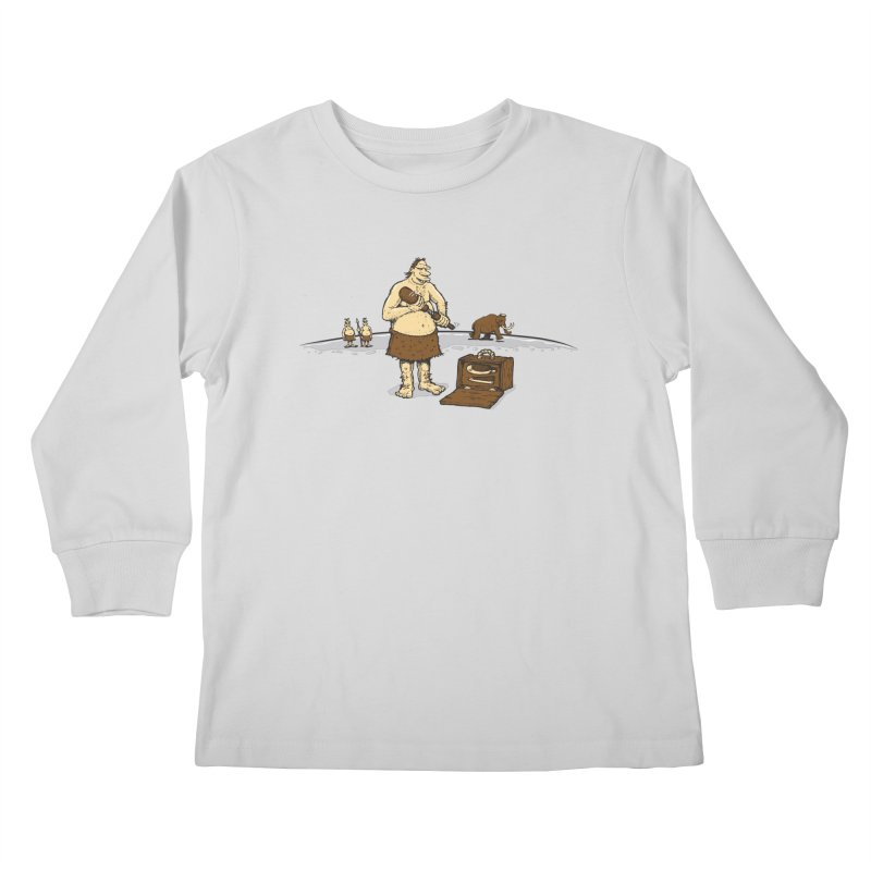 Hitman of the Stoneage Kids Longsleeve T-Shirt by Urban Prey's Artist Shop