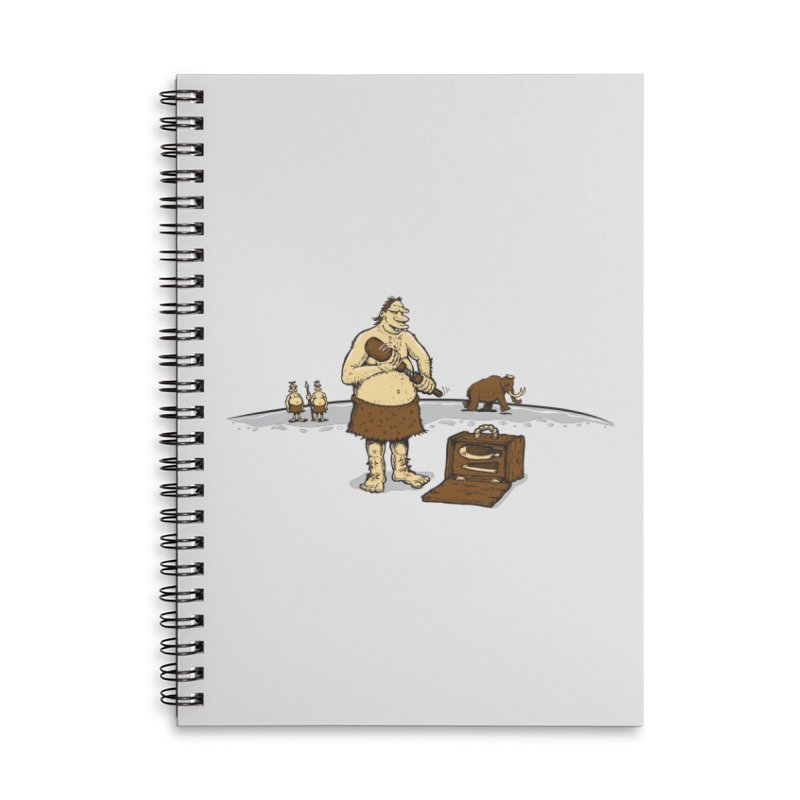 Hitman of the Stoneage Accessories Lined Spiral Notebook by Urban Prey's Artist Shop