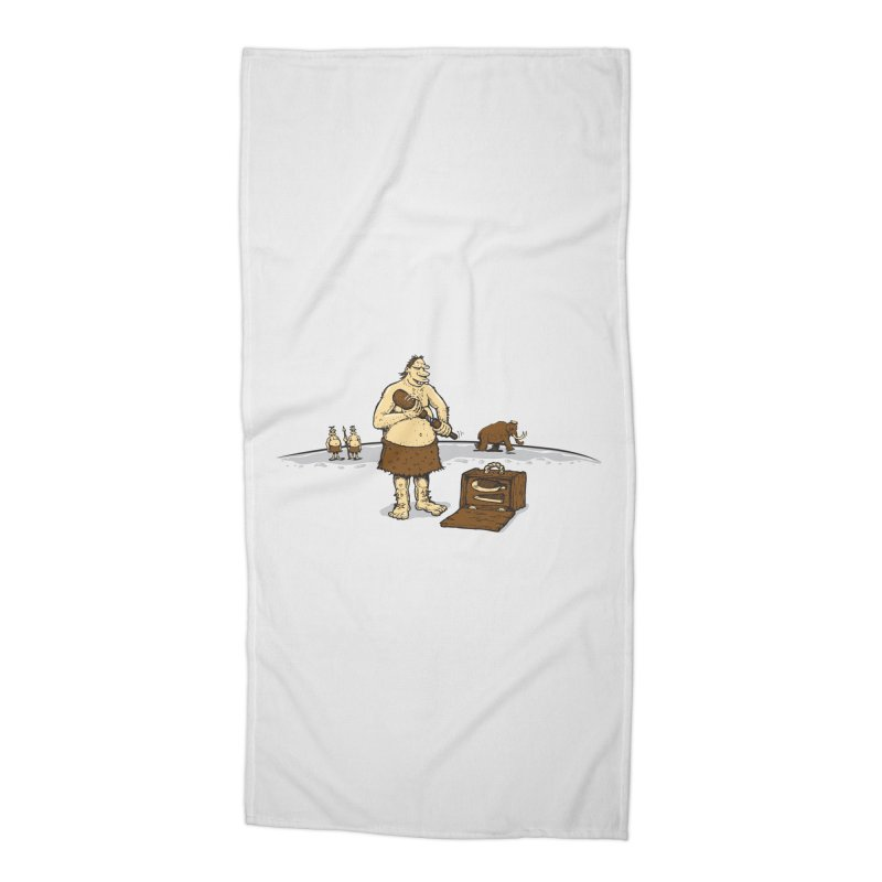 Hitman of the Stoneage Accessories Beach Towel by Urban Prey's Artist Shop