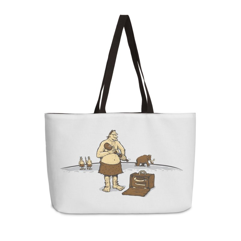 Hitman of the Stoneage Accessories Weekender Bag Bag by Urban Prey's Artist Shop