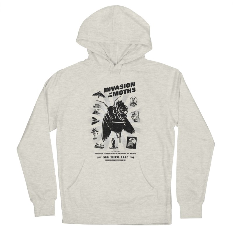 Invasion of the Moths Men's French Terry Pullover Hoody by Urban Prey's Artist Shop