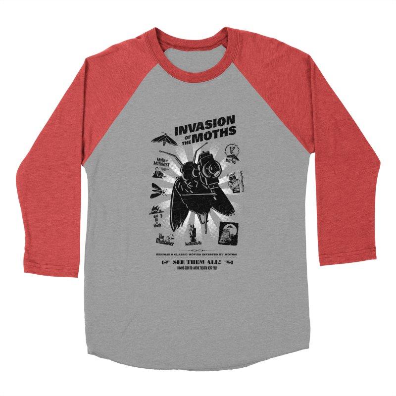 Invasion of the Moths Women's Baseball Triblend Longsleeve T-Shirt by Urban Prey's Artist Shop